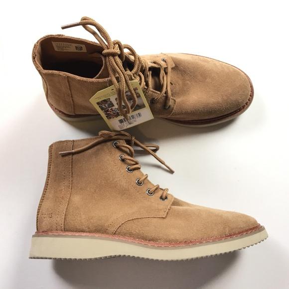 d60f255803b Toms Mens Porter Toffee Brown Desert Boots Sz 9